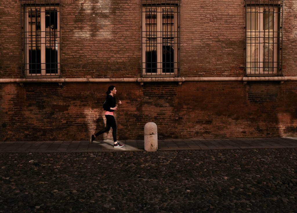 morning run in town by caterina