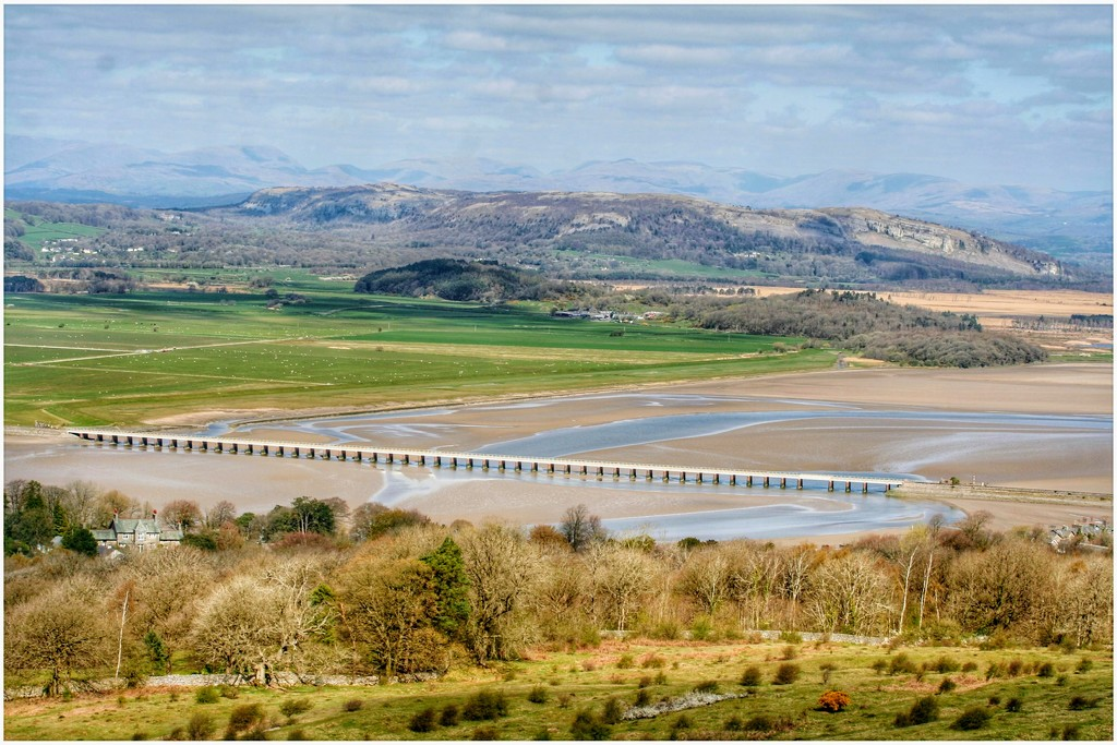 The view from the top of Arnside Knott showing the viaduct  by lyndamcg