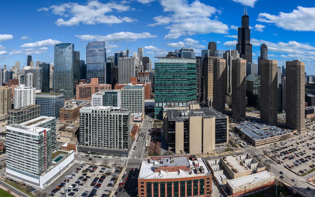 Chicago Skyline Pano  by taffy