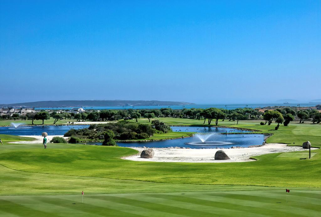 Golf course of Langebaan by ludwigsdiana