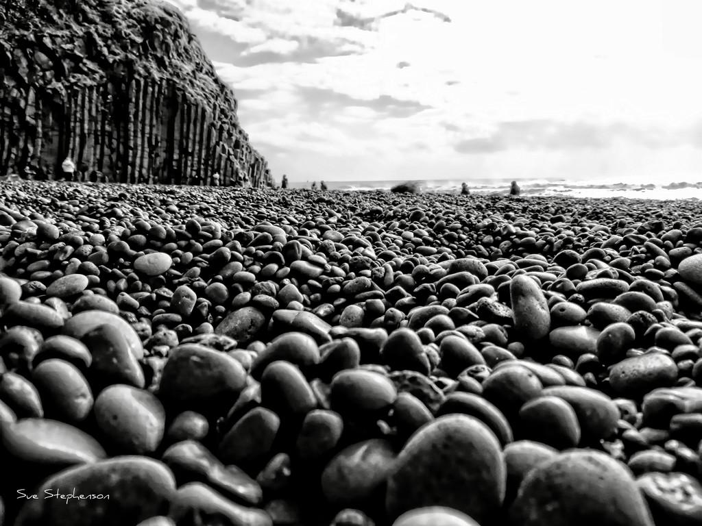 Iceland's Reynisfjara Beach Stones by Swazzette