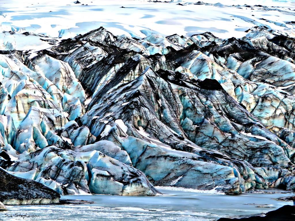 Solheimajokull Glacier by Swazzette