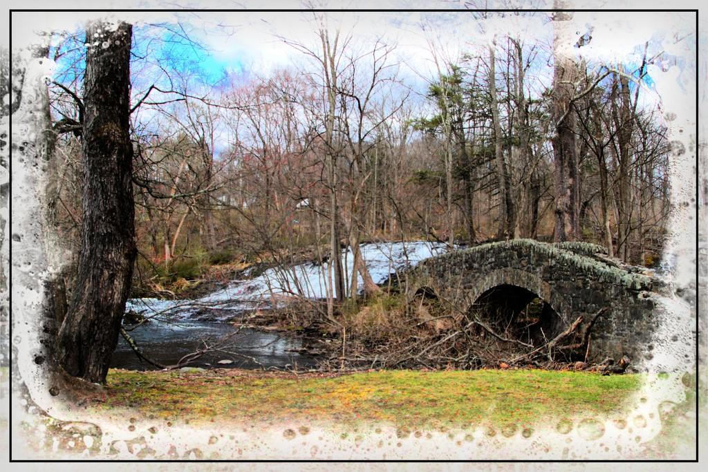 Stone Bridge at Buttermilk Falls by olivetreeann