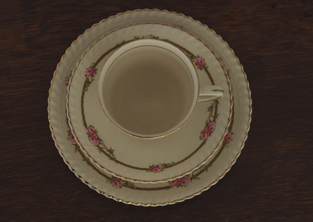 30 Shot April - Cup, Saucer and a Side Plate by brigette