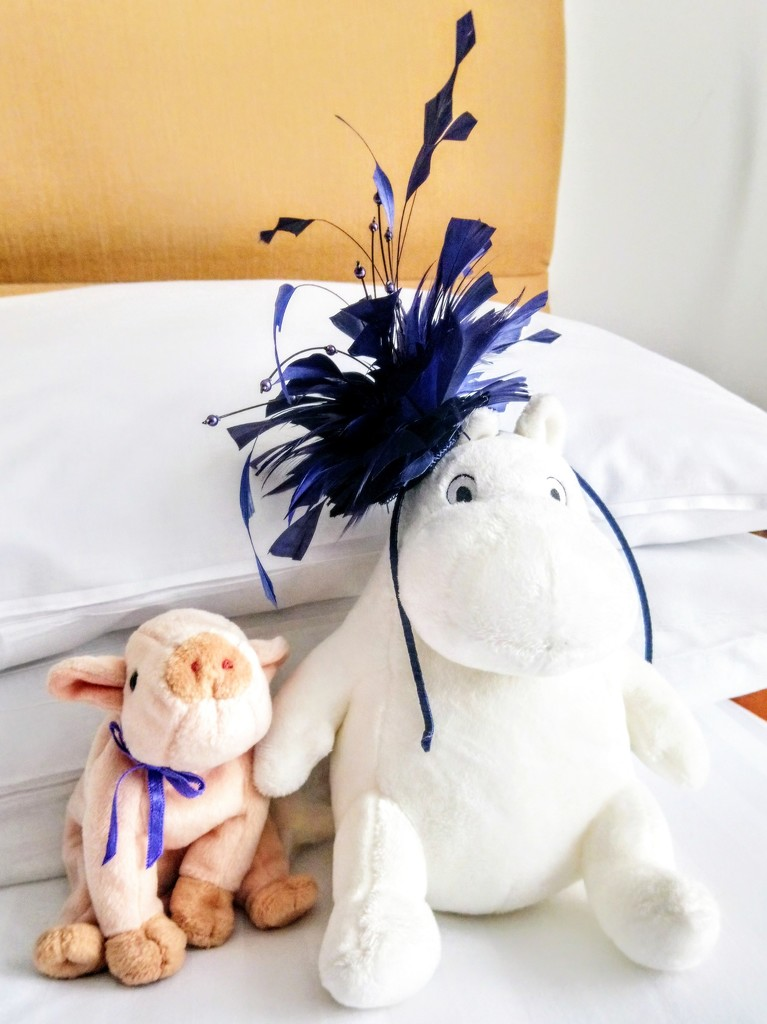 Moomin wears a fascinator by boxplayer