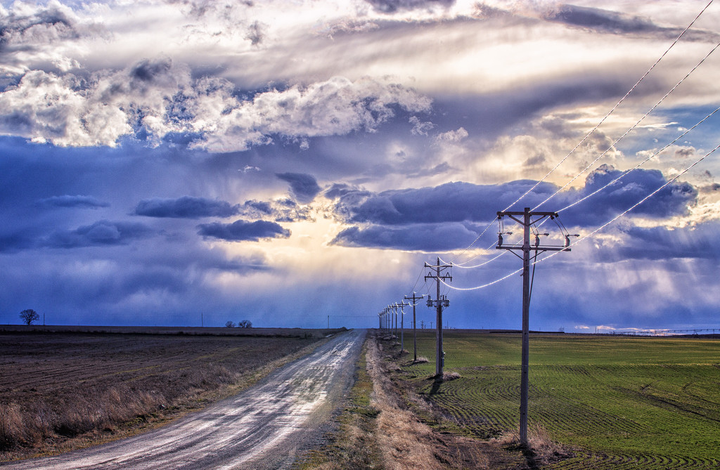 stormy sunset by aecasey