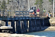 18th Apr 2019 - Bridge work going to a small island.
