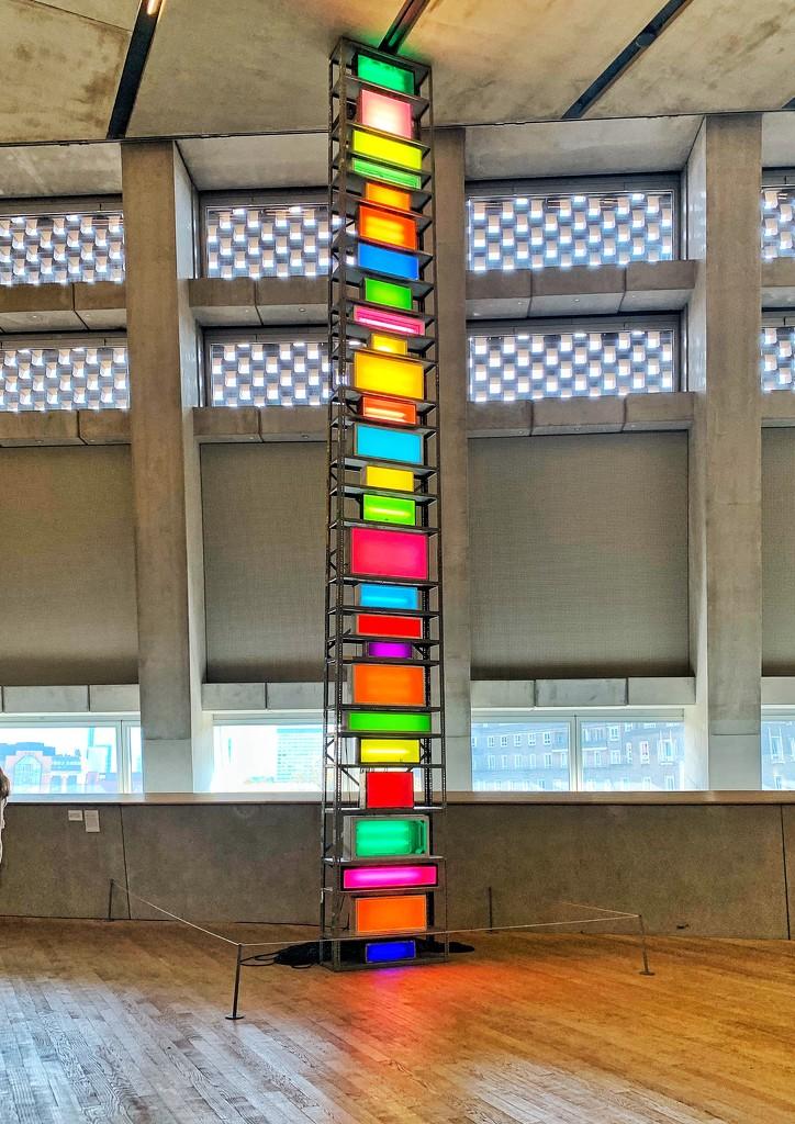 Column of colors.  by cocobella
