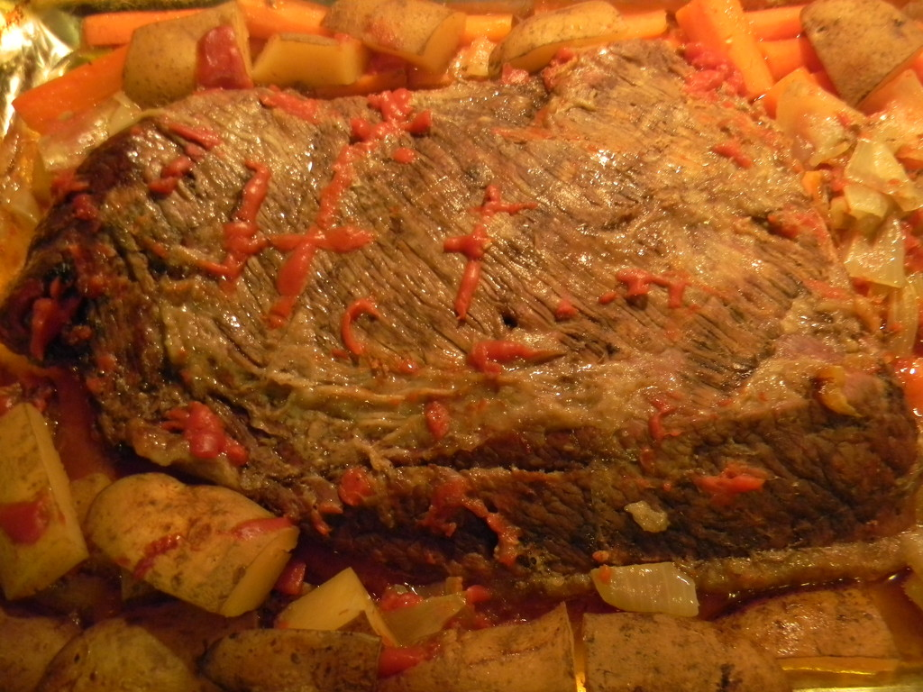 Brisket with Carrots and Potatoes by sfeldphotos