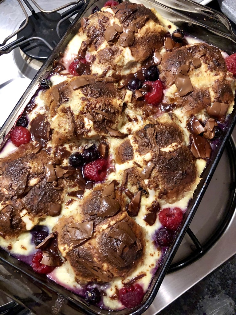 Hot Cross Bun Bread and Butter Pudding by nicolecampbell
