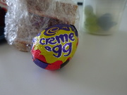21st Apr 2019 - nothing enlivens lunch like a creme egg