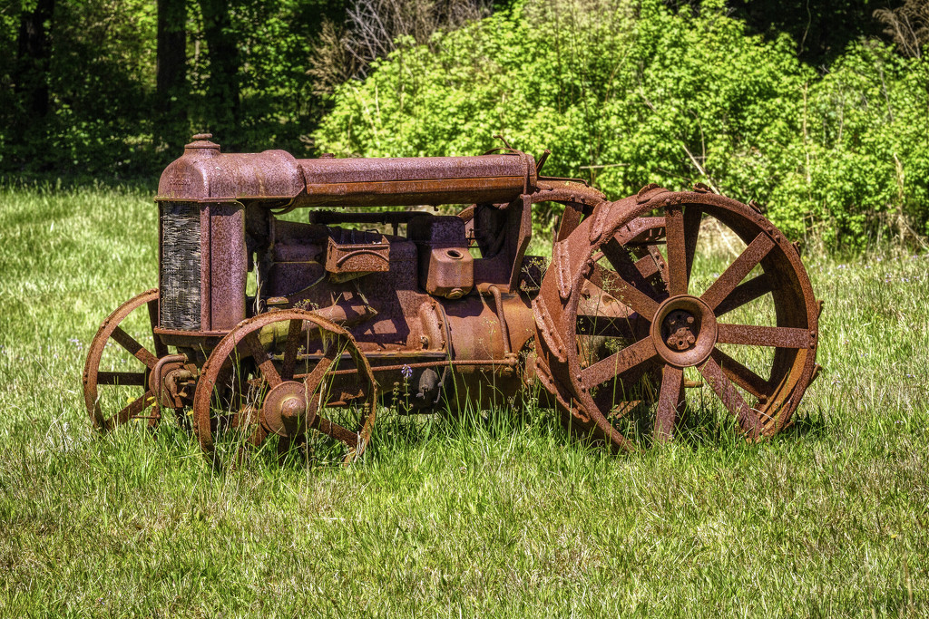 Rusty Tractor  by kvphoto