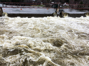 23rd Apr 2019 - The Saco flowing over the dam