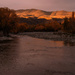 Early morning light over the hills and river by maureenpp