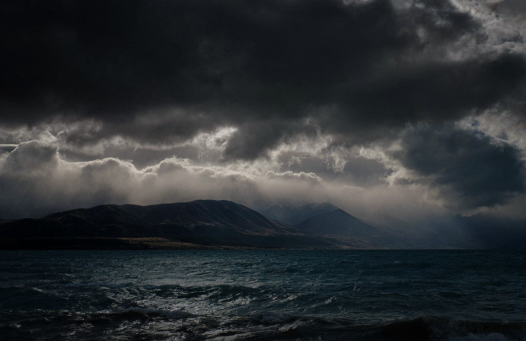 Storm over Lake Pukaki by maureenpp