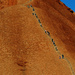 Climbers on Uluru by judithdeacon