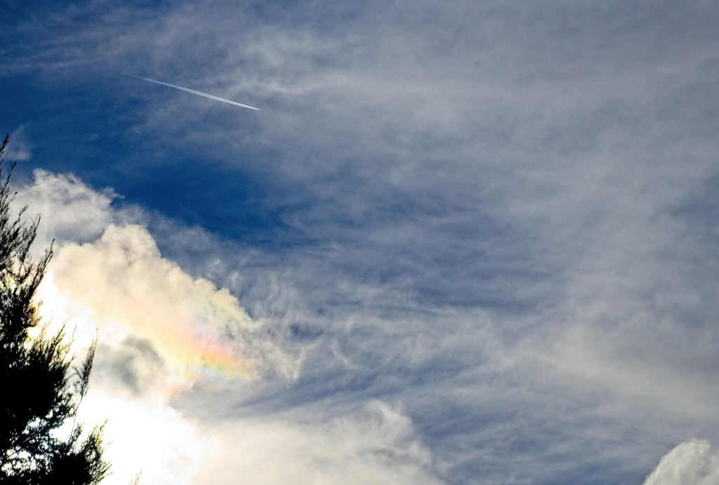 Rainbows in the clouds by kiwinanna