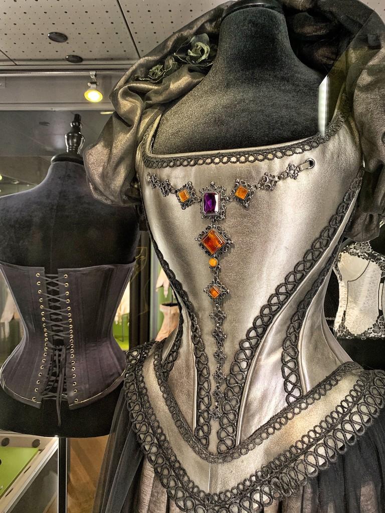 Silver corset.  by cocobella