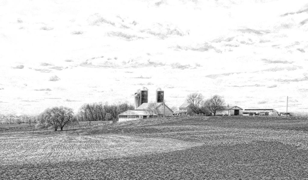Countryside In Pencil by digitalrn