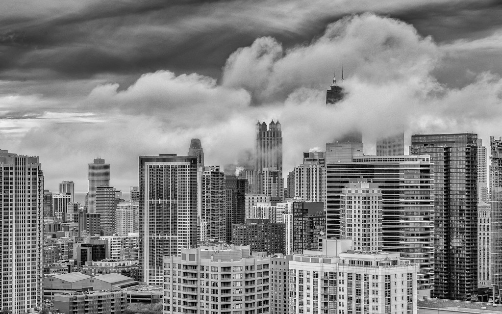 Clouds Surround Some Skyscrapers by taffy