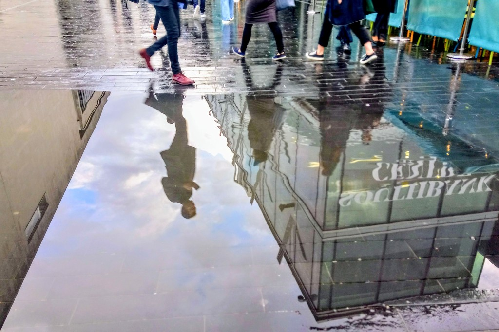 Puddle at the Royal Festival Hall by boxplayer