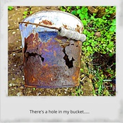 1st May 2019 - There's a hole in my bucket....