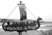 30th Apr 2019 - 30th April Viking longship BW