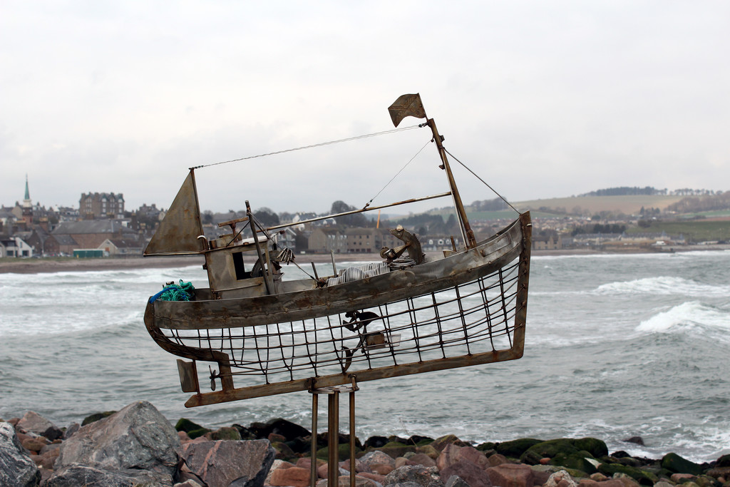 26th April Fishing boat Stonehaven by valpetersen