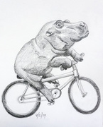 9th May 2019 - Bike Riding Hippo