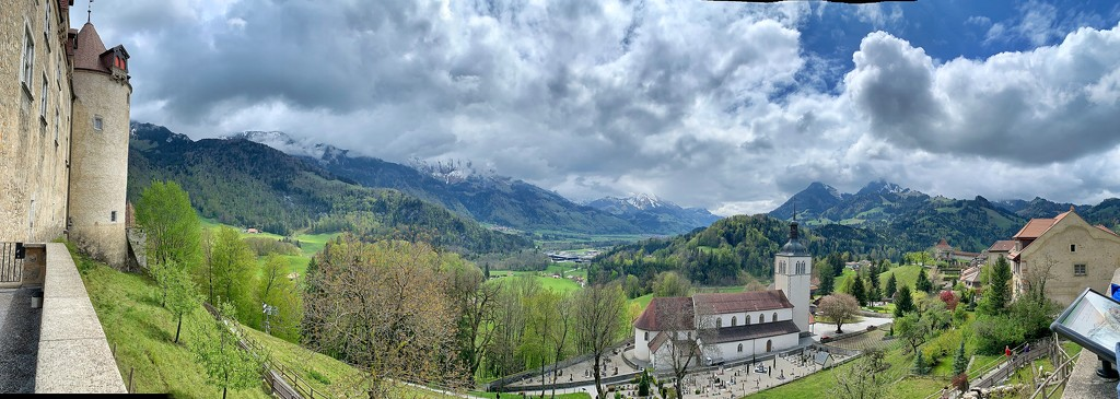 View from the castle of Gruyères.  by cocobella