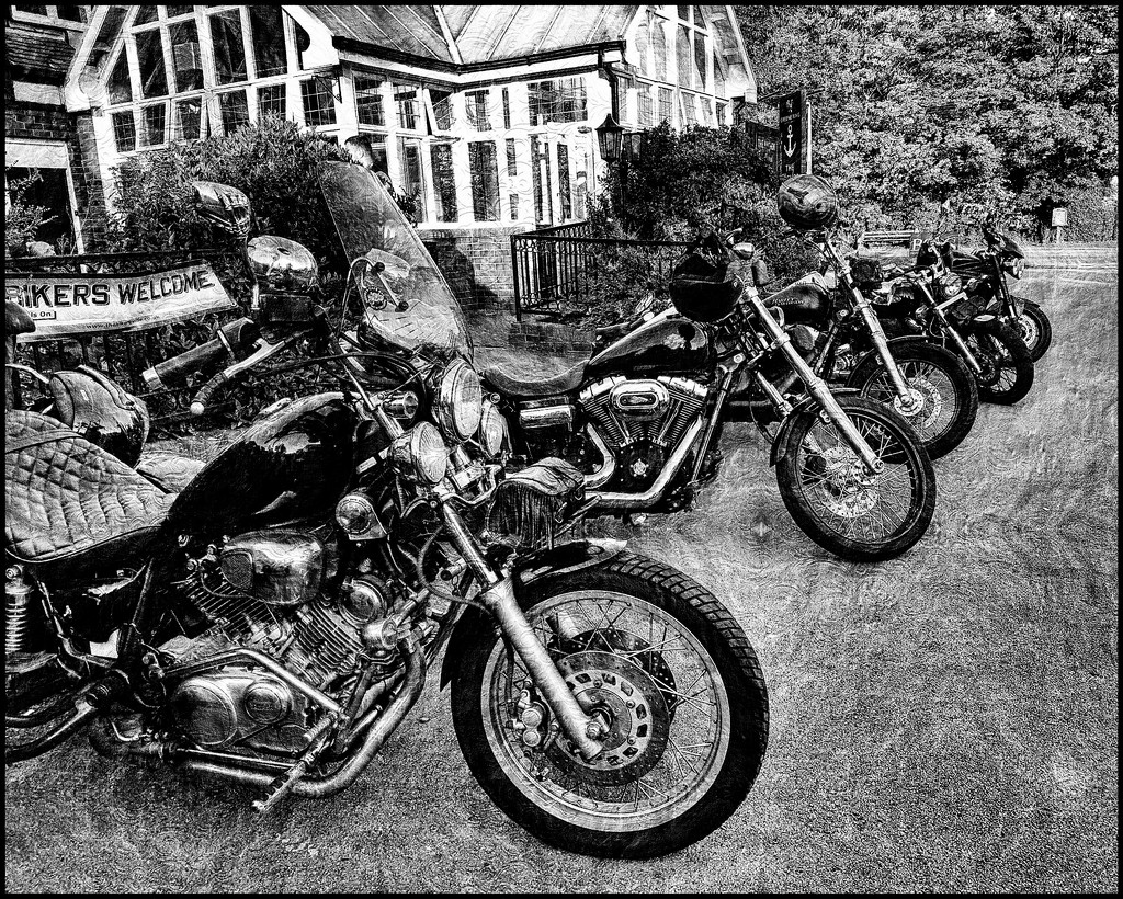 Bikers night at our local- couldn't resist a shot! These are just a few of them, some beauts amongst them by lyndamcg