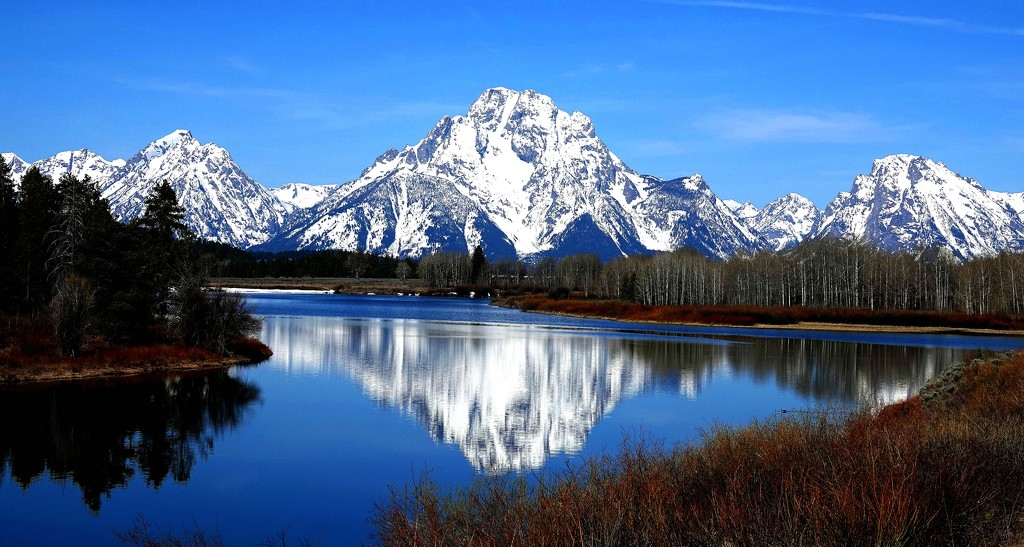 Grand Tetons - All that Snow! by milaniet
