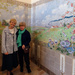 Tina with Maria our guide in the tile museum at Hemiksem, Belgium