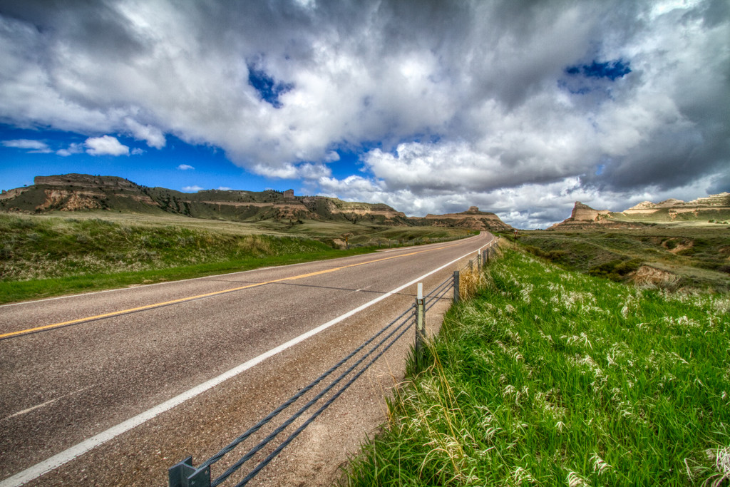 Scotts Bluff National Monument and the Road Ahead by kvphoto