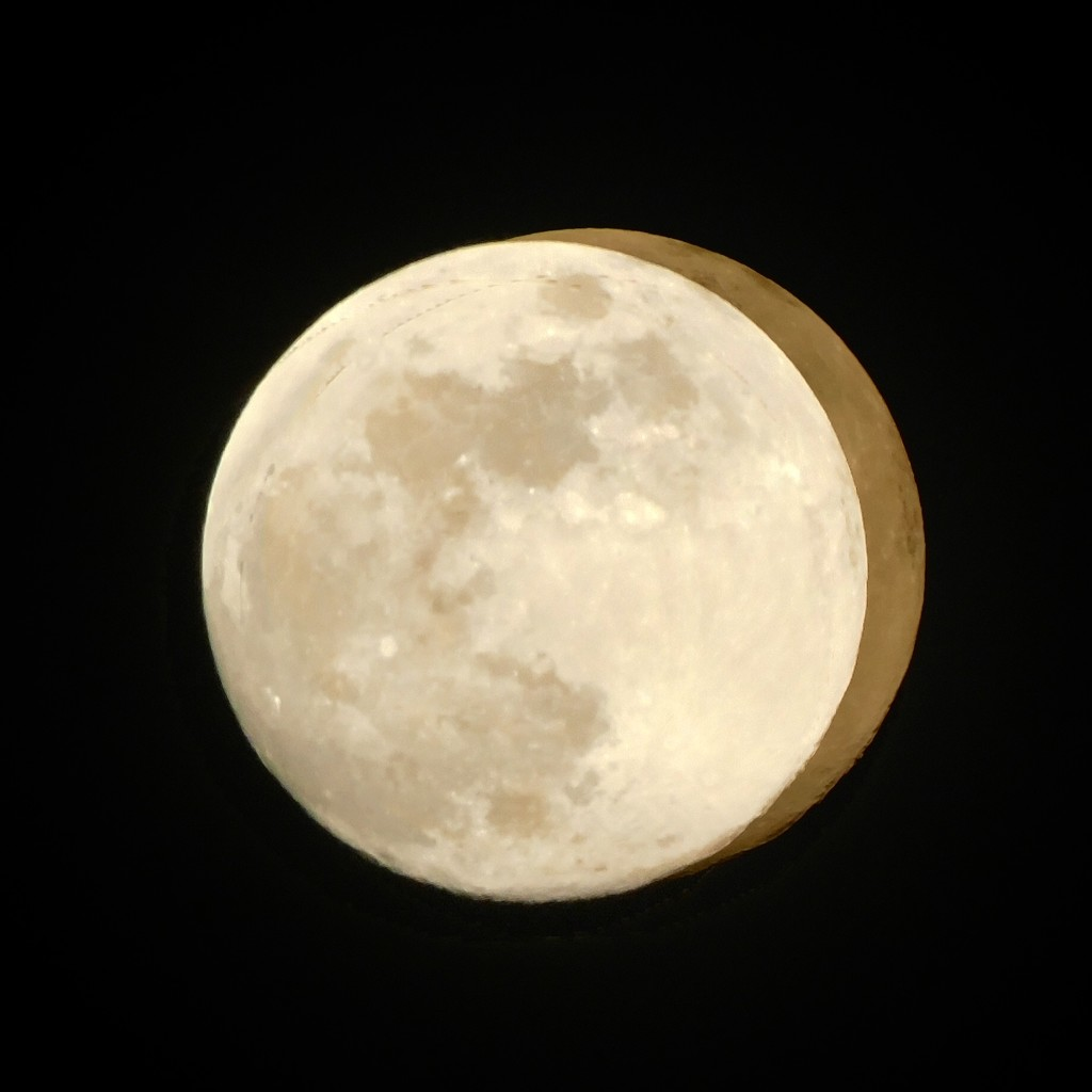Is it a Full Moon with a Dark Side or a Full Moon With a Crescent Moon? by moonshadow