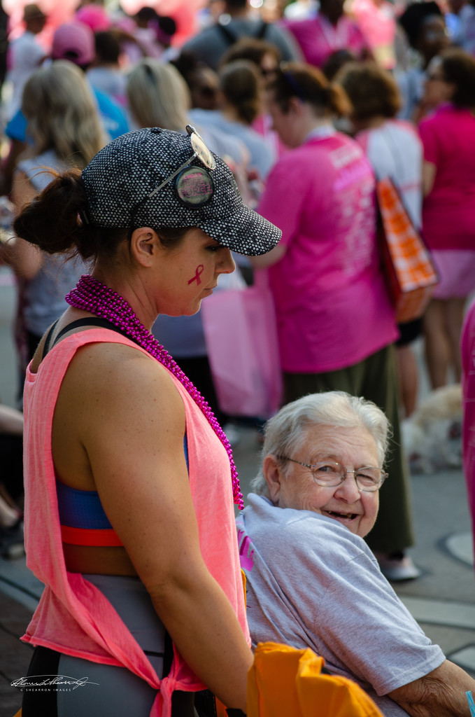 Grandma having fun at the race by ggshearron