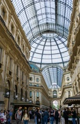 24th May 2019 - Once upon a time a visitor arrived in Milan and ran to see the Duomo, now they are stopped by the Galleria V. E. who wants parts of their admiration