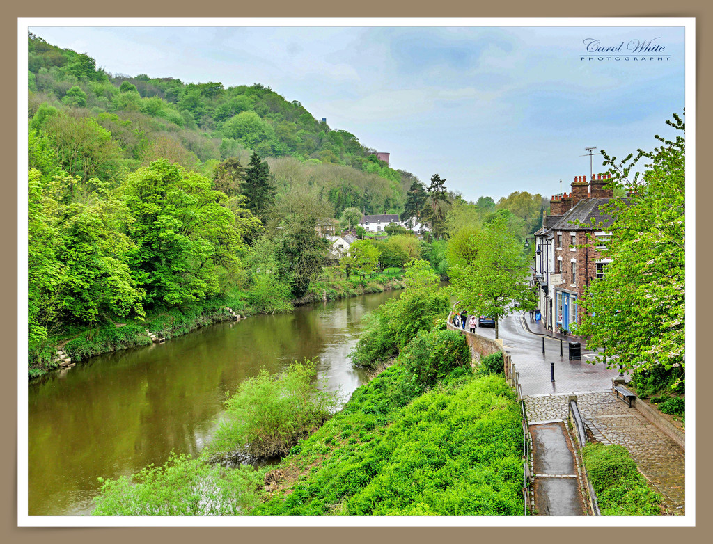 The River Severn On A Rainy Day In Ironbridge by carolmw