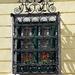 ornate grid on the window