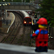 26th May 2019 - Even Lego characters go train spotting