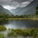 Lake in the rain by shepherdmanswife