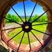 The fence wagon wheel