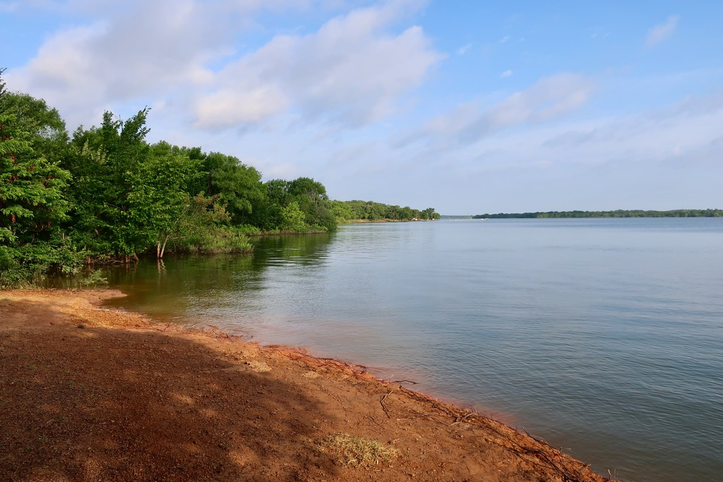 Lake Lewisville before the storms by louannwarren
