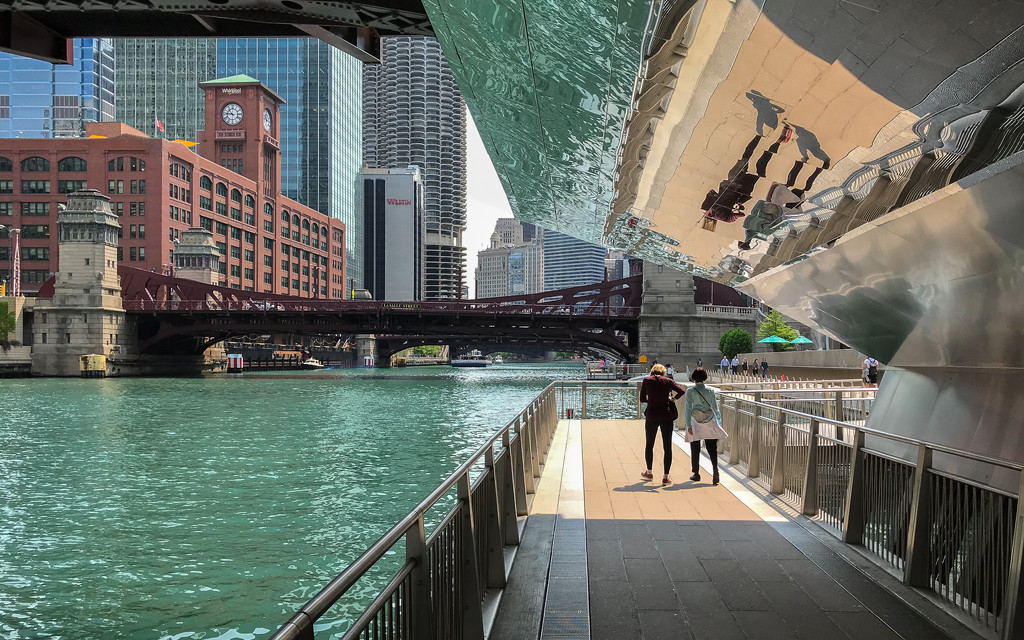 With Friends Along the Chicago River by taffy