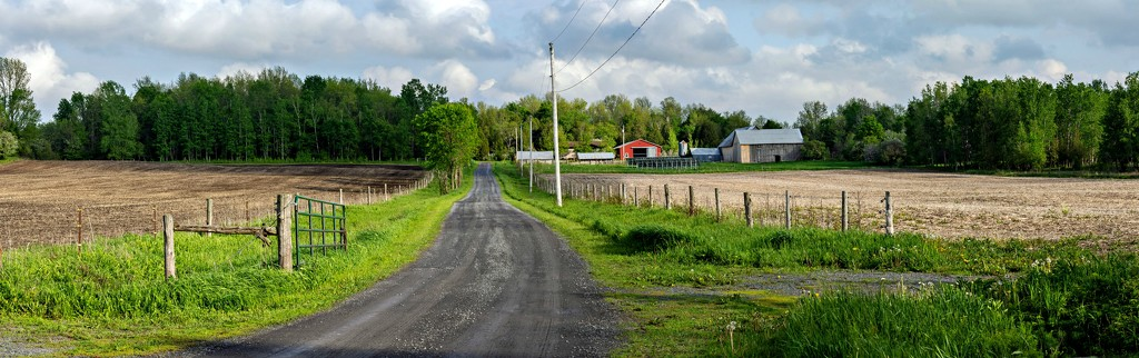 Panorama Of Our Farm From Road by farmreporter