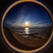 Fish eye sunset Hunstanton