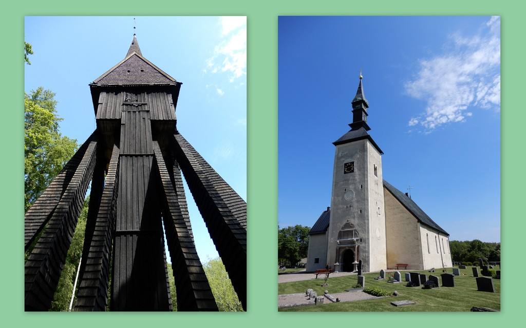 Brahe church and bell tower, Visingso by busylady