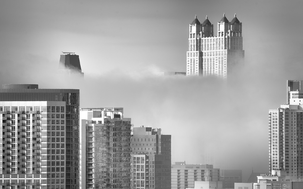 Fog Cuts Across the City by taffy