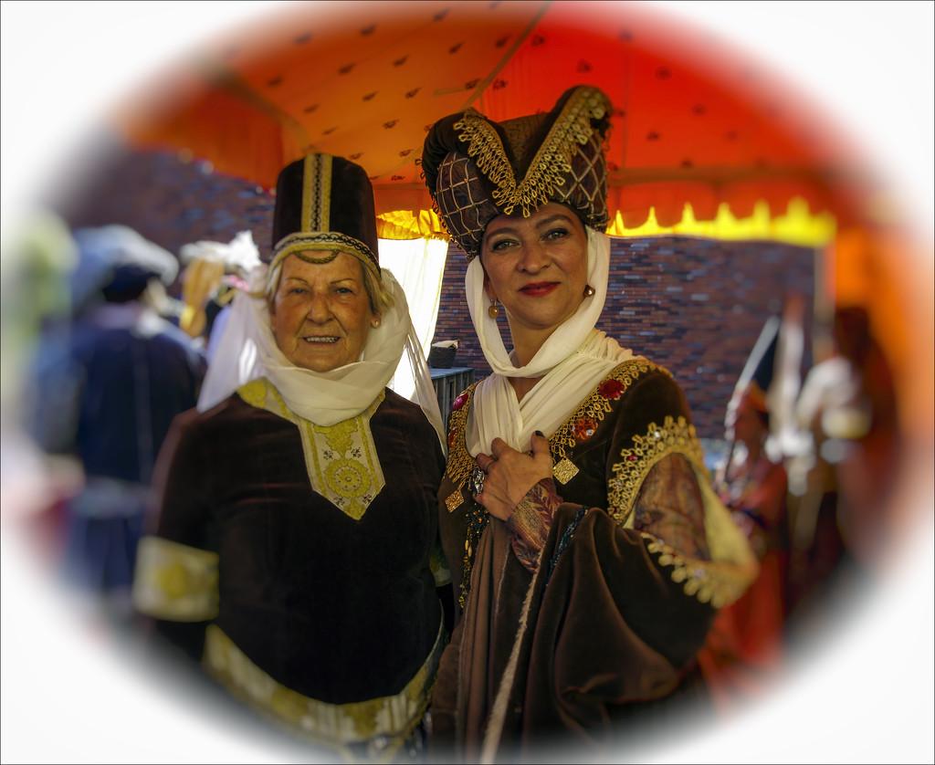 Costumed ladies by ivan