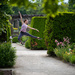Leap in the garden